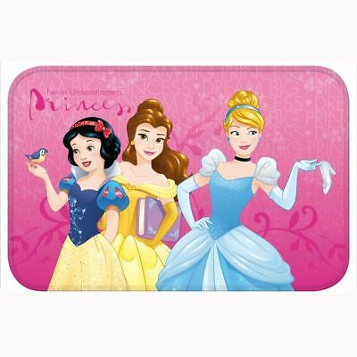DISNEY PRINCESS FLOOR MAT KIDS GIRLS BEDROOM PINK 40cm x 60cm