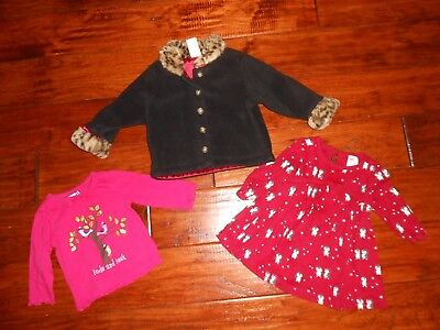 Girls 3pc Mix & Match Shirt & Dress & Jacket Lot Size 3-6 months