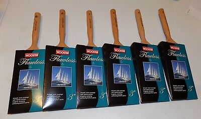 """6 pack of Wooster Brushes M5205-3 Flawless Paint brush 3"""" marine paints/primers"""