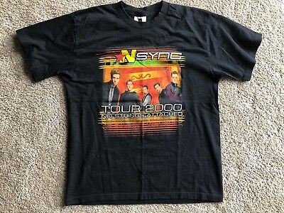 Vintage 2000 NSYNC No Strings Attached Tour Official T Shirt Size Large