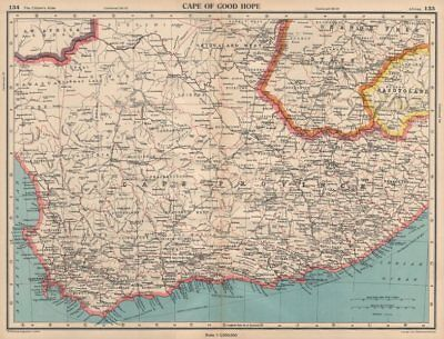 CAPE OF GOOD HOPE. Cape Province. South Africa. BARTHOLOMEW 1944 old map