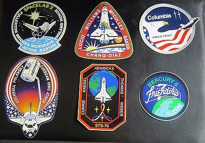 NASA Lot of 6 STICKERS/DECALS Space Shuttle Crew STS Mission ISS Spacelab Lot #1