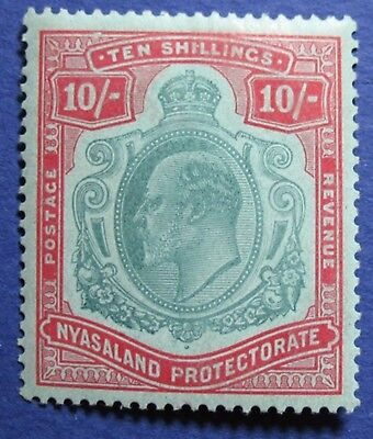 1908 Nyasaland 10S Scott# 9 S.g.# 80 Unused Cs02203