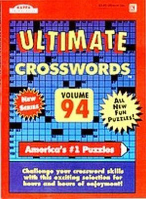 KAPPA - Ultimate Crossword Puzzle Book - 112 Pages