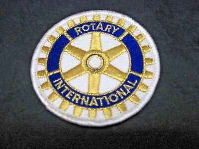 """Rotary International Embroidered Patch Sew-on High Quality Detailed Patch 3"""" NEW"""