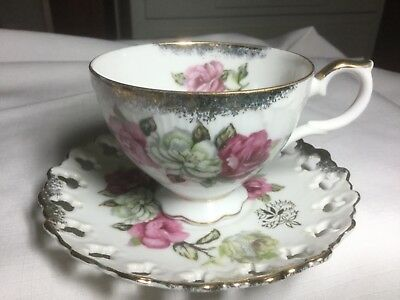 Oakwood Open-Lace Cup And Saucer  Japan