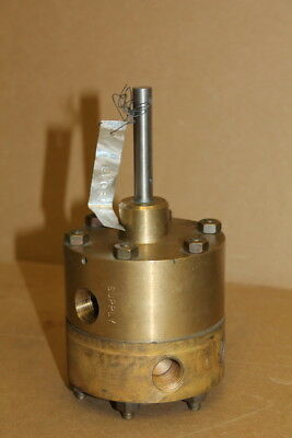"Rotary selector valve, 3 way, 3/8"" NPT, Bronze, C080101D, Griswold Ind."
