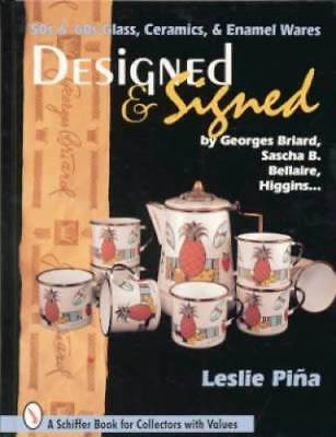 50s 60s Signed Art Glass Ref Book Higgins Briard Others