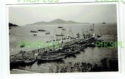 Old Postcard Pier & Harbour Wei Hai Wei China Real Photo Vintage 1920S