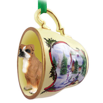 Boxer Christmas Teacup Ornament Uncropped