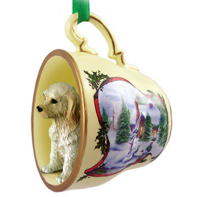 Labradoodle Christmas Ornament Teacup Cream
