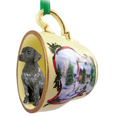 German Shorthair Pointer Christmas Ornament Teacup