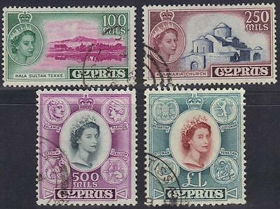 Cyprus 1965 High Values Four Key Stamps To £1 Very Rare Used