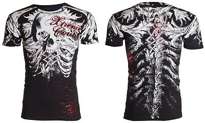 XTREME COUTURE by AFFLICTION Mens T-Shirt PERSIMMON Skull Tattoo Biker UFC $40
