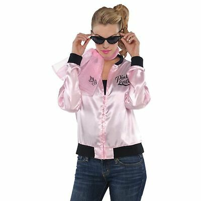 50's Pink Scarf Grease Rock Ladies Womens Adults Fancy Dres Costume Accessory