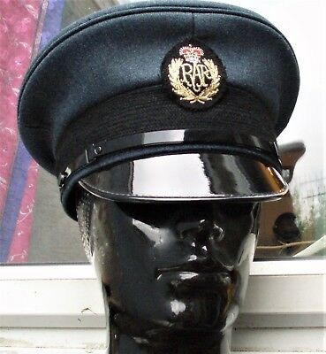 1b6f7277a8a 53xs RAF ROYAL AIR FORCE PEAKED CAP HAT military Pilot Visor Cadets School  Play