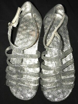 4c7e57aff3f2 girls size 3 NEW NWOT SILVER SPARKLE GLITTER SANDALS SHOES the CHILDRENS  PLACE