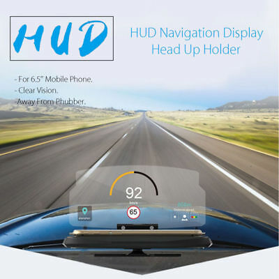 Universal 6.5'' Car HUD Head Up Navigation Display Phone Holder GPS Projector