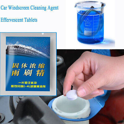 10Pcs Car Windshield Glass Wash Cleaning Concentrated Effervescent Tablets Hot