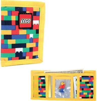 Lego Classic Brick Print Tri-Fold Wallet Minifigure Not Included New