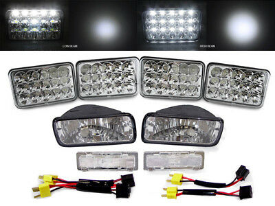 LED Headlights+Adapters+Clear Bumper Signal+Marker Lights for 85-92 Chevy Camaro