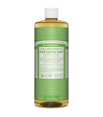 2 x 946ml DR BRONNERS Pure Castile Liquid Soap - Green Tea  (Bronner's)