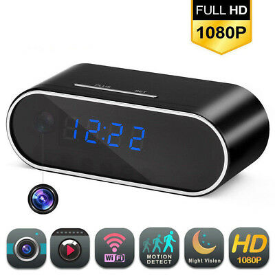HD 1080P Wireless Wifi IP Spy Hidden Camera Motion Security Alarm Clock IR Cam Y