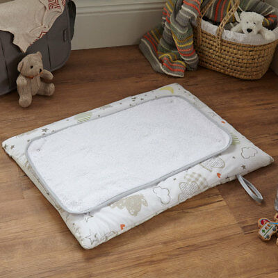 Clair de Lune Sleep Tight Travel And Changing Mat, White