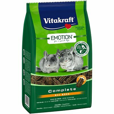 Vitakraft Emotion Complet All Ages, Chinchilla - 800 G - Nourriture Rongeurs