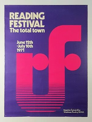 Reading Festival Of Arts 1971 UK Promotional Poster Genesis Wishbone Ash
