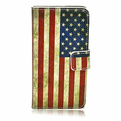 Flip Leather Credit Card Slot Magnetic Case Cover For Samsung Galaxy A5 2015