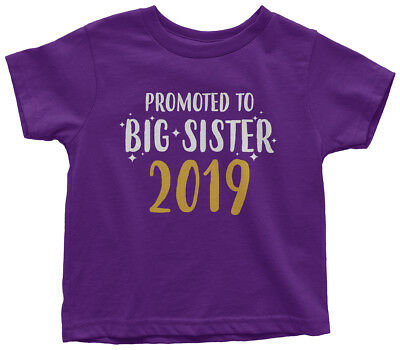 Promoted to Big Sister 2019 Toddler T-Shirt Pregnancy Announcement