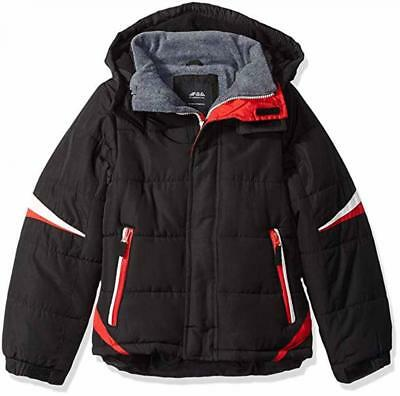 London Fog Big Boys Black & Red Puffer Jacket Size 8 10/12 14/16