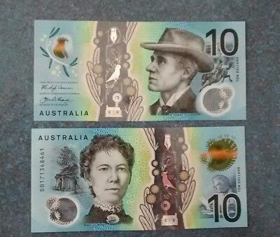 New, 2017 Australia  10 Dollars - Polymer Banknote  UNC
