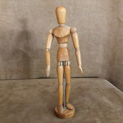 "Wooden drawing model 13"" table top adjustable artists' mannequin painting figure"