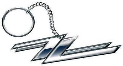 ZZ Top Keyring Keychain Twin Z's band logo  new Official metal One Size
