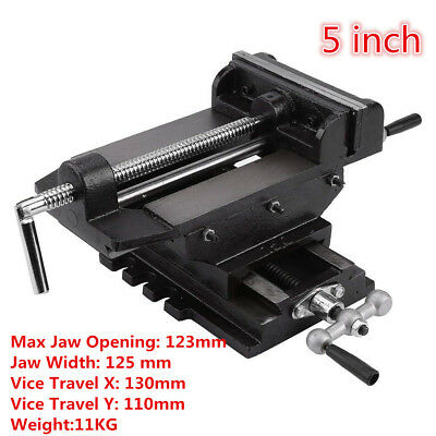 5 INCH Cross Slide Drill Bench Press Vise Milling Machine Clamp Woodworking Tool