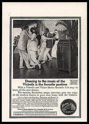 Ballroom Dance 1914 Norman Price Art AD Victor Nipper Dog Logo