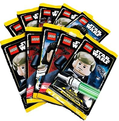 10x LEGO Star Wars Trading Cards Game Serie 1 - 10 Booster Neu & OVP
