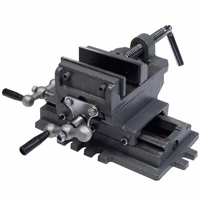 4'' Heavy Duty Cast Clamping Machine Shop Tools Cross Slide Drill Press Vise