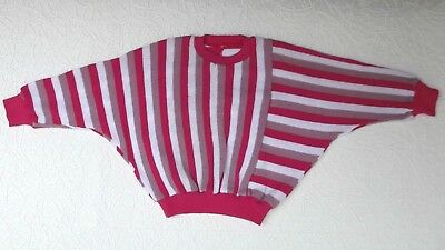 Vintage girls batwing jumper Age 6 UNUSED Windsor knit wear top Pink stripes