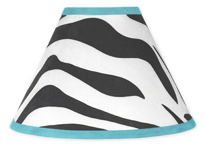 Sweet Jojo Designs Lamp Shade for Turquoise & Zebra Print Baby Kid Teen Bedding