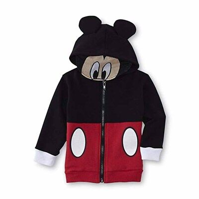 Mickey Mouse Boys Fleece Hoodie with Mesh Mask Size 12M 18M 2T 3T 4T 5T