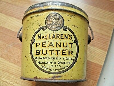 Old One Pound PEANUT BUTTER Pail.  McLaren's Brand
