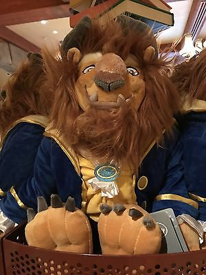 NEW Disney Parks Authentic BEAST Large Plush Toy Doll Beauty and The Beast