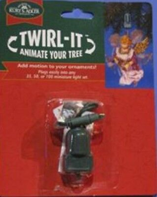 Twirl It Motor Pigtail Rotating Christmas Tree Ornament Spinner J7804 New