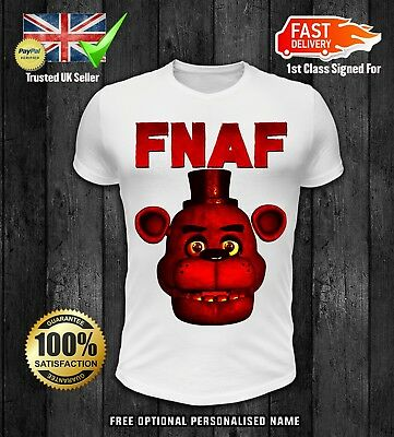 Five Nights At Freddys Fnaf Optional Personalised Kids T Shirt Spooky 2 Easy To Use T-shirts, Tops & Shirts