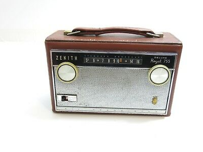 Vintage Zenith Deluxe Royal 755 Am All Transistor Radio ~ Works 755Lk