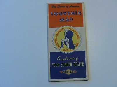 Very Neat 1950 Boy Scout National Jamboree BSA Valley Forge SUNOCO Souvenir Map
