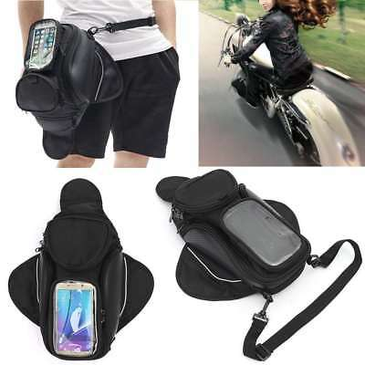New Universal Motorcycle Bike Oil Fuel Tank Bag Saddlebag 4Pocket Waterproof